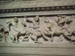 Alexander the Great and companions hunting lions