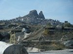 an old fortress/castle overlooking Cappadocia