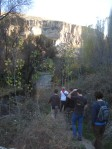 our tour group walking through the canyon