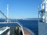 crossing the Dardanelles on the ferry